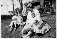 Ginnie, Barbara, Homer and Fay Easter 1955 015