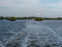 Motoring out of Everglades City.