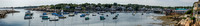Rockport Harbor Panorama by Homer Shannon